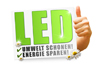 LED technology with additional focus lens