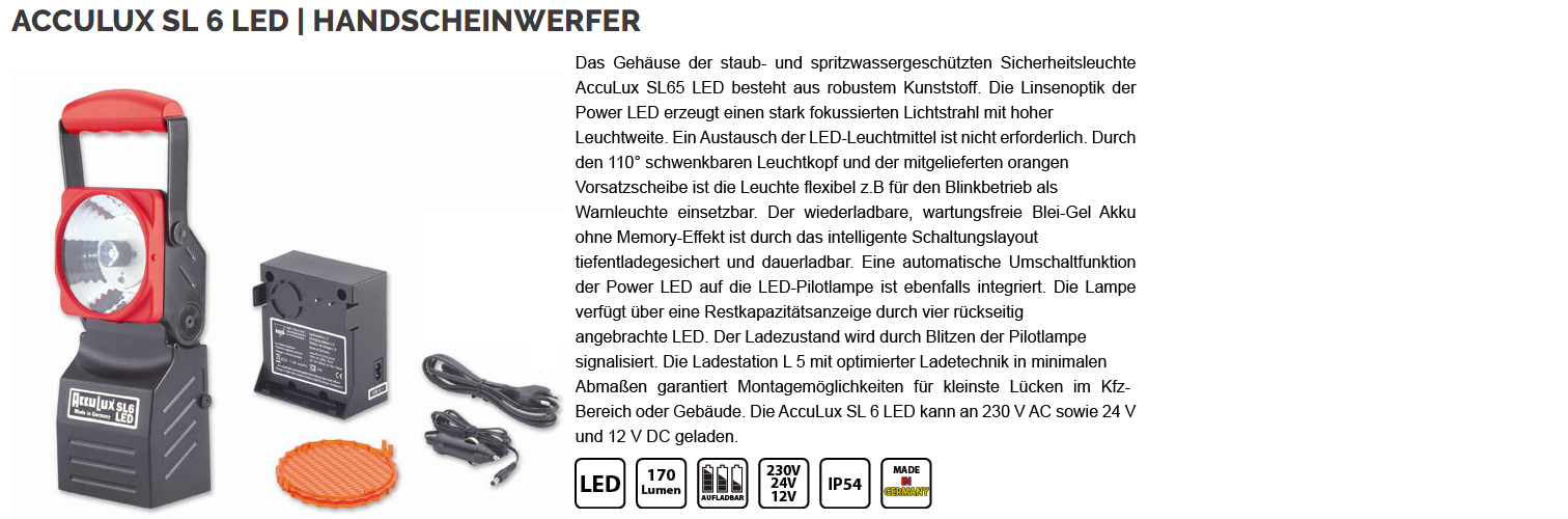Big akku sl 6 led