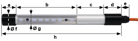 Dimensions KE LED EX 3010 tube light