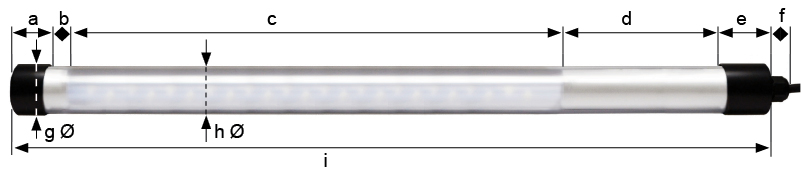 Dimensions KE LED EX 5024 tube luminaire