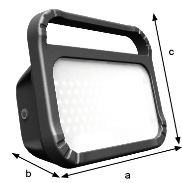 Dimensions ex-proof LED floodlight ULTRA Safe 2