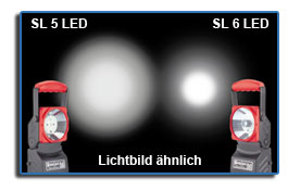 Comparison Acculux SL 5 LED versus Acculux SL 6 LED