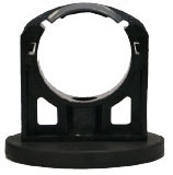 Permanent magnet, rubber coated, incl. mounting bracket