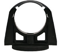Permanent magnet, rubber coated incl. mounting bracket