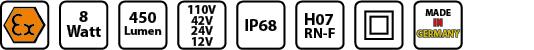 KE EX 4008 Symbole Handleuchte