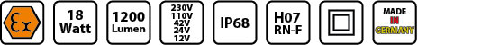 KE EX 6818 Symbole mobile Arbeitsleuchte