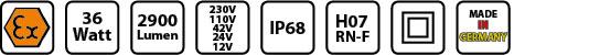 KE EX 6836 Symbole mobile Arbeitsleuchte