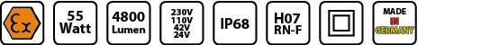 KE EX 6855 Symbole mobile Arbeitsleuchte